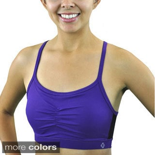 Madison Sport Women's 'Mona' Racerback Sports Bra with Mesh Inserts