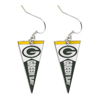 NFL Green Bay Packers Pennant Earrings