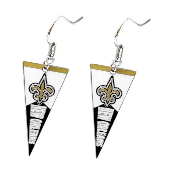 NFL New Orleans Saints Pennant Earrings