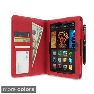 rooCASE Dual Station Folio Case Cover with Stylus for Amazon Kindle Fire HDX 7