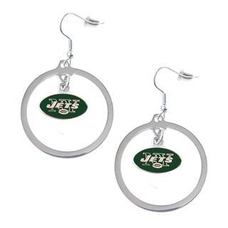 NFL New York Jets Hoop Charm Earrings