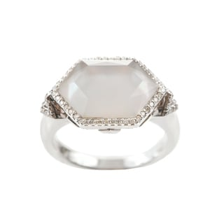 Ivanka Trump 18k White Gold 1/4ct TDW Pave Diamond Crossover Ring (G-H, SI1-SI2)