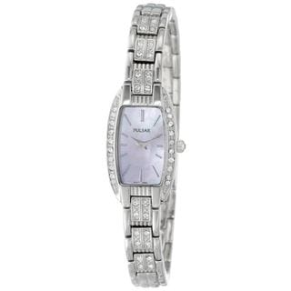 Pulsar Women's PEG987 Mother of Pearl Crystal Accent Watch