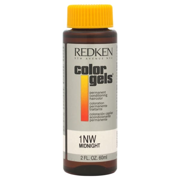 Redken Color Gels Permanent Conditioning 1NW Midnight 2-ounce Hair Color