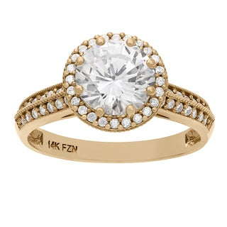 Gioelli 10KT Gold 4.11 tcw 8mm Halo Engagement Ring