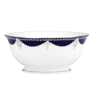 Lenox Marchesa Empire Pearl Indigo Serving Bowl