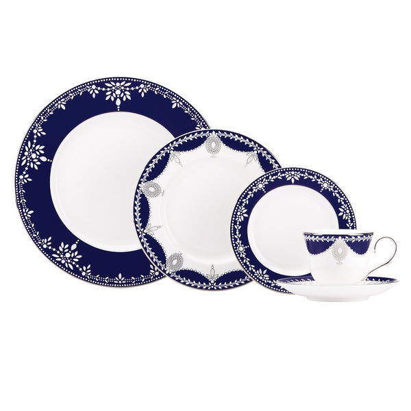 Lenox Marchesa Empire Pearl Indigo 5-piece Dinnerware Place Setting