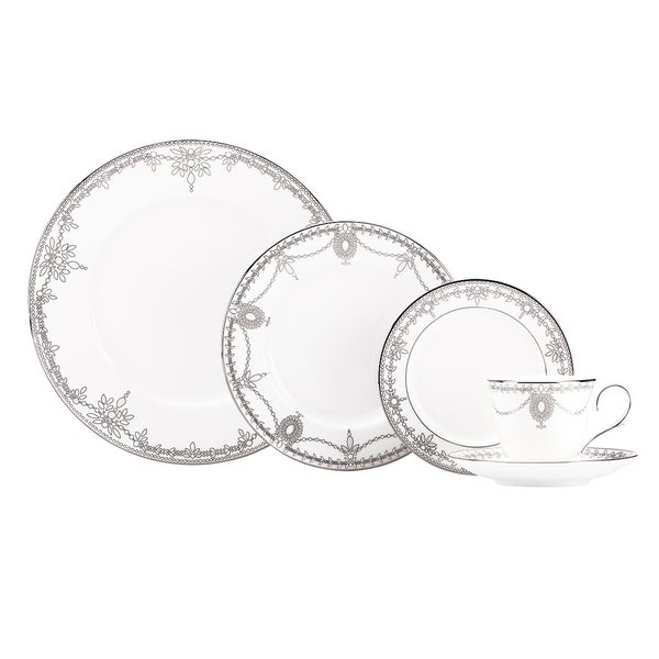 Lenox Marchesa Empire Pearl 5-piece Dinnerware Place Setting
