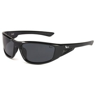 Coleman 'Highlander' Shiny Black Frame Polarized Sport Sunglasses