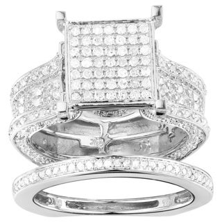 10k White Gold 1 3/8ct TDW Diamond Ring (G-H, I1-I2)