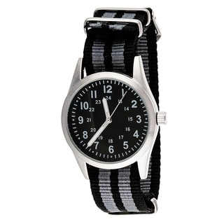 Xtreme Time Kids' Pop Round Grey Nylon Watch