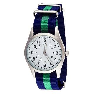 Xtreme Time Kids' Pop Round Green/ Blue Nylon Watch