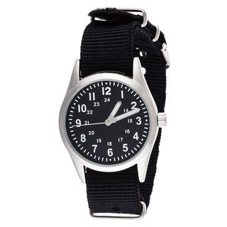 Xtreme Time Kids' Pop Round Black Nylon Watch