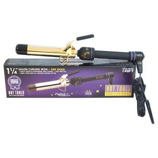 Hot Tools Professional Salon Gold/Black 1.25-inch Curling Iron