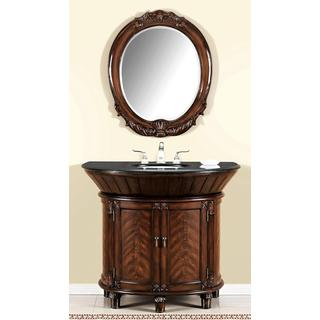 ICA Furniture Anteros Demilune Bathroom Vanity with Mirror