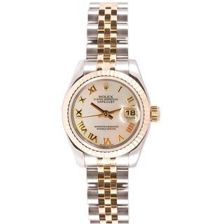 Pre-owned Rolex Women's Datejust Steel and Gold Jubilee Mother Of Pearl Dial Watch
