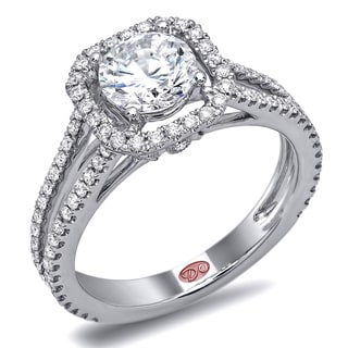 Demarco 18k White Gold 1 3/5ct TDW Designer Diamond Engagement Ring (F-G, SI1-SI2)