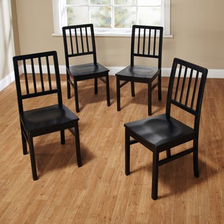 Simple Living Camden Black Dining Chairs (Set of 4)