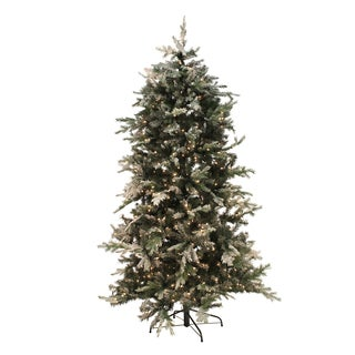 Pre-lit 6.5 ft Flocked Northern Tree