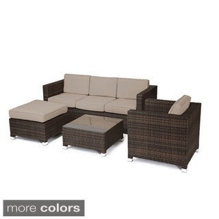 Reef Rattan Catalina 4-piece Conversation Sofa Set