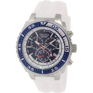Nautica Men's Nst 700 N14677G White Rubber Quartz Watch