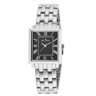 Lucien Piccard Women's Bianco LP-10502-11 Black Dial Watch