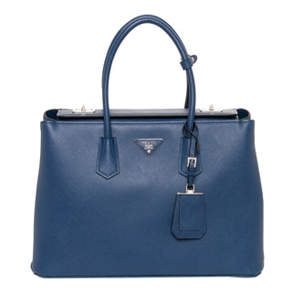 Prada Large City Calf Turn-lock Twin Tote Bag