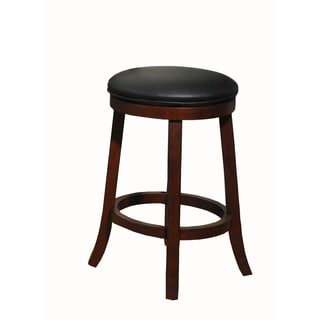 Whitaker Furniture Backless Burnished Walnut Swivel Stools (Set of 2)
