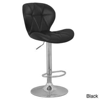 Clamshell Faux Leather Swivel Stool (Set of 2)