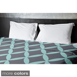 68 x 88-inch Ocean and Steel Geometric Duvet Cover