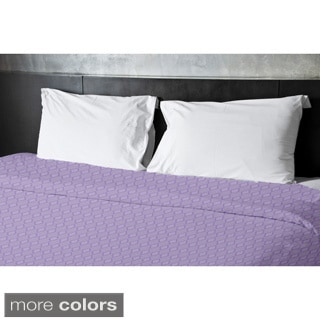 Tri-tone Geometric Full/ Queen Duvet Cover