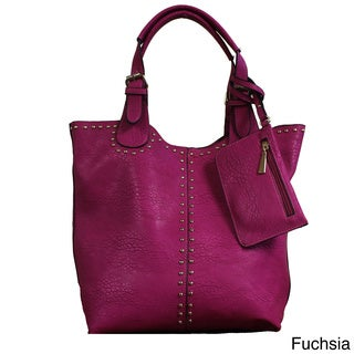 Lithyc 'Faina' 3-in-1 Studded Vegan Leather Tote Bag