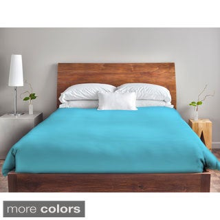 88 x 88-inch Blues Solid Color Duvet Cover