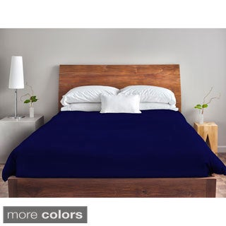 88 x 88-inch Solid Blue Duvet Cover