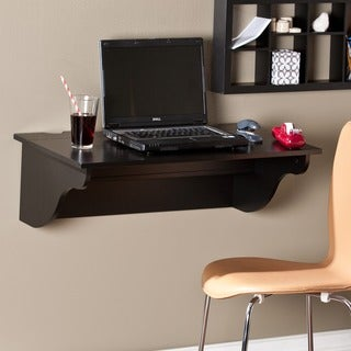 Upton Home Canterbury Black Wall Mount Desk Ledge