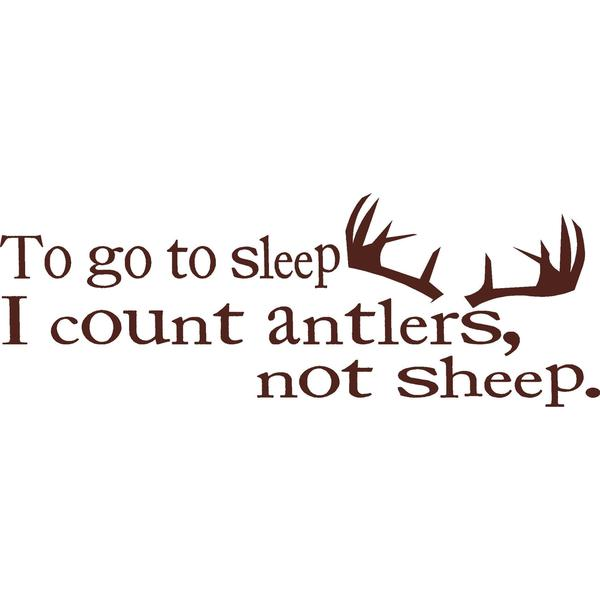 """To go to sleep..."" Vinyl Wall Art Sticker"