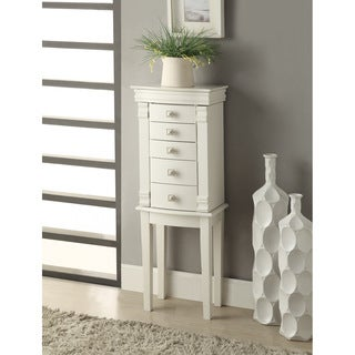 Linon Angela White Jewelry Armoire