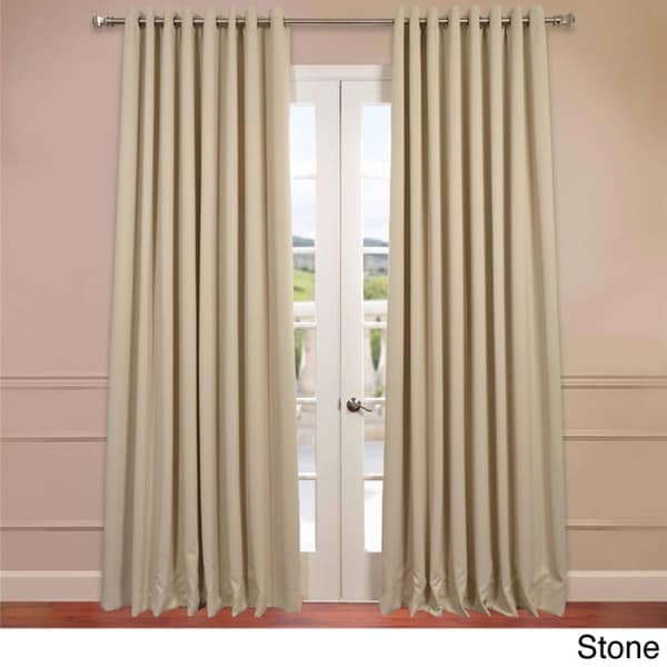 EFF Extra Wide Thermal Blackout Grommet Top 84-inch Curtain Panel