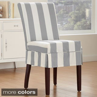 Cabana Dining Chair Relaxed Fit Slipcover with Buttons