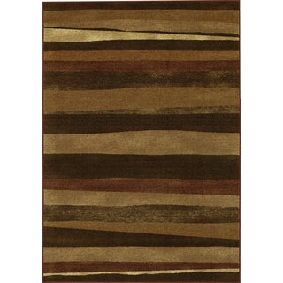 Carmel Chocolate Rectangular Nylon Area Rug (3'3 x 5')