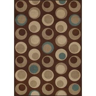 Carmel Chocolate Rectangular Nylon Area Rug (8'2 x 10')