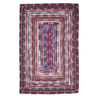 Feller Red Recycled Cotton Rug (2' x 3')