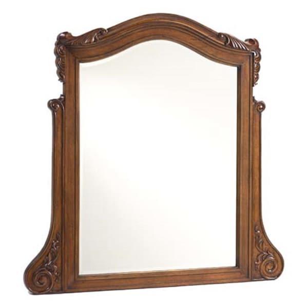 French Heritage Antique Cherry Dresser Mirror