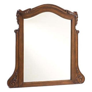 French Heritage Antique Cherry Dresser Mirror