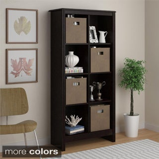 Altra 8-cube Storage Cubby Bookcase with Four Storage Bins