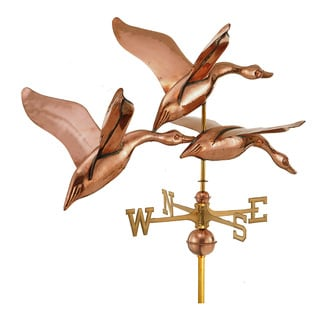Good Directions 42-inch 3 Geese in Flight Polished Copper Estate Weathervane