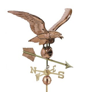 Good Directions 34-inch Polished Copper Smithsonian Eagle Estate Weathervane