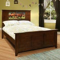 LightHeaded Beds Shaker Chocolate Full Bed with Changeable Back-lit LED Headboard Imagery by Lifetime