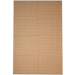 Herat Oriental Indo Hand-tufted Flat Weave Kilim Beige/ Grey Wool Rug (5'7 x 8'5)