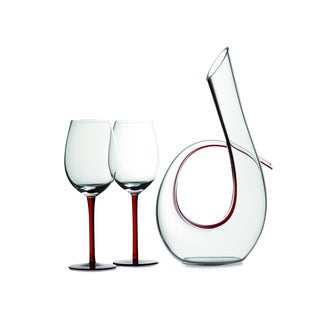 Maxwell & Williams Sensations 3-piece Red Decanter and Wine Glass Set